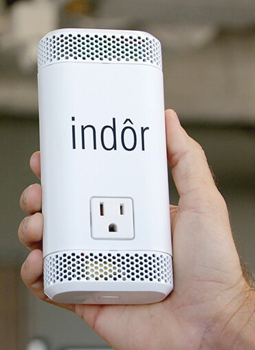 indor device in hand
